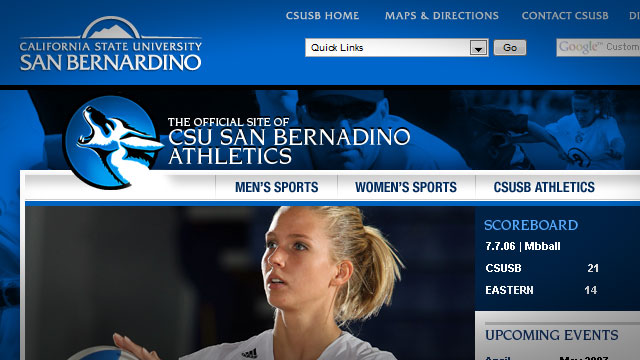 CSUSB Athletics - Website