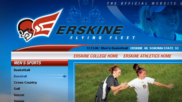 Erskine College Athletics - Website