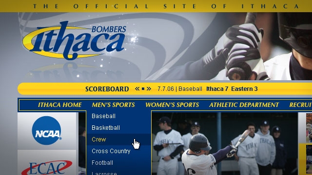 Ithaca College Athletics - Website
